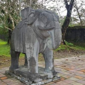The elephant in Minh Mang Tomb! Minh Mang Tomb is the royal tomb of the 2nd emperor of the Nguyen Dynasty in Vietnam.