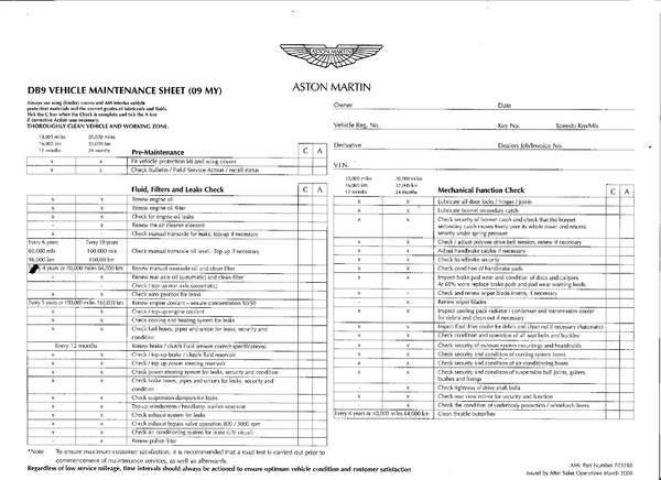 Service Manual Aston Martin Forum